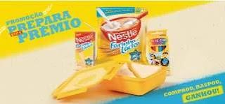 Promoção Nestlé Farinha Láctea 2020 Comprou, Raspou, Ganhou Caixa Giz ou Pote