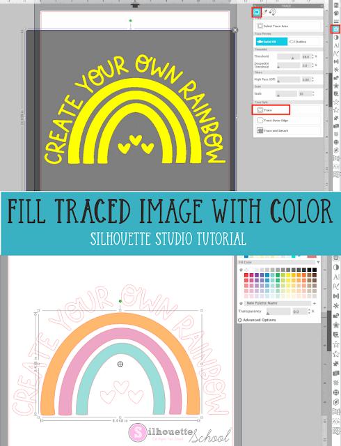 silhouette 101, silhouette america blog, silhouette studio, silhouette studio v4, fill color tool