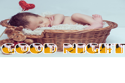 Good night baby image, good night cute baby photos