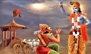 krishna explaining bhagavadgita to arjuna