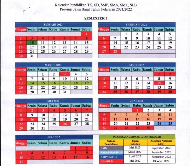 kalender pendidikan 2021 jawa barat