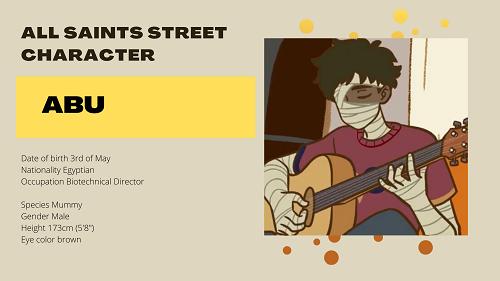 All Saints Street Character Abu