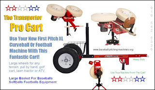 Transporter Pro Cart For XL ACE Curveball Football Or Cricket Bowler / Pro Bowler