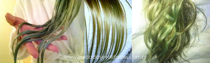 como evitar que o cabelo loiro fique verde?