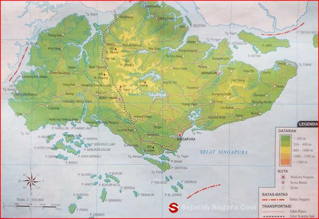 Peta Negara Singapura di bawah ini mencakup peta dataran Peta Negara Singapura