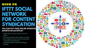Social syndication network for blog website traffic