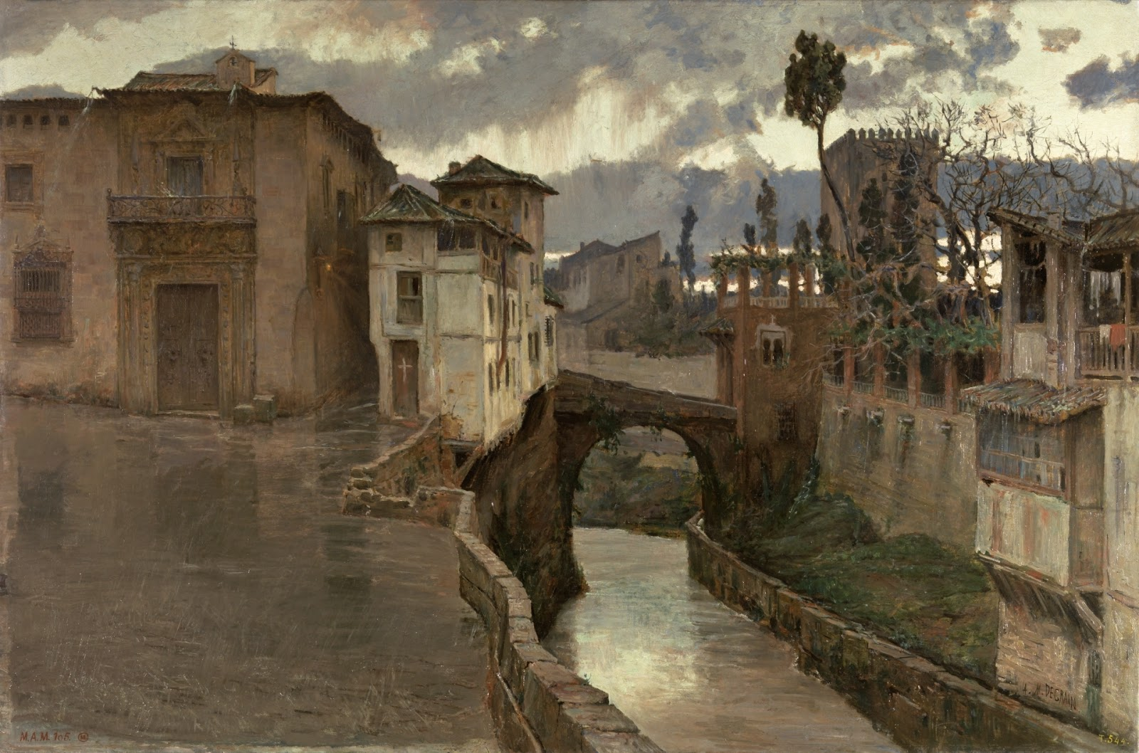 Recuerdos de Granada. Antonio Muñoz Degrain. 1881, Óleo sobre lienzo, 97x144,5 cm. Madrid, Museo Nacional del Prado.