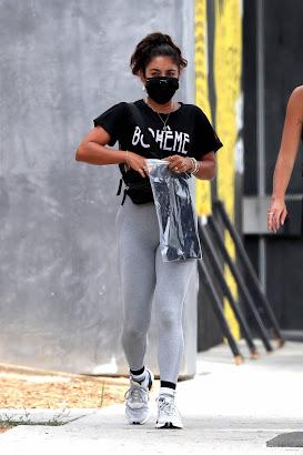 Vanessa Hudgens - In grey leggings17