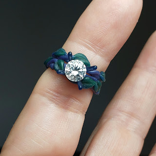 Hand Sculpted Engagement Ring