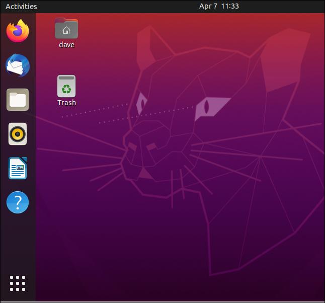 سطح المكتب Ubuntu 20.04 القياسي