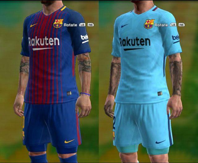 Barcelona Kit 2017-2018 PES 2013