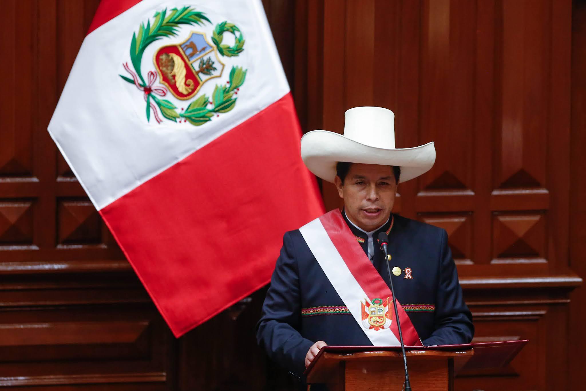 Pedro Castillo dio su primer mensaje a la Nación