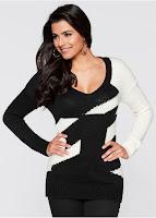 Pulover tricotat lejer si elegant (bonprix)