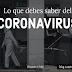 Lo que debes saber del coronavirus.