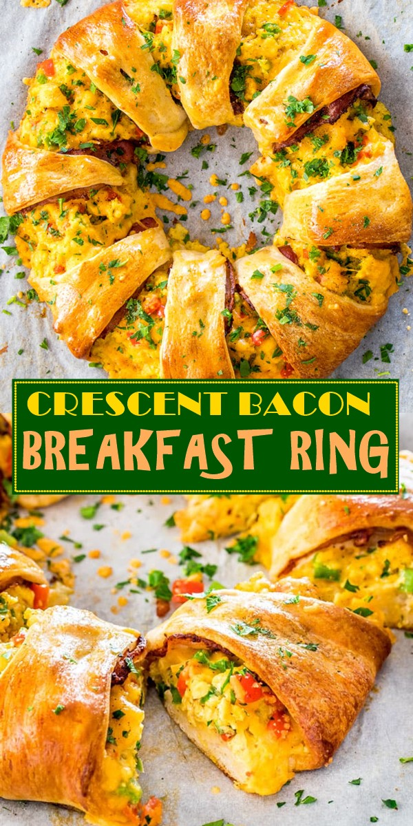 CRESCENT BACON BREAKFAST RING #breakfastideas