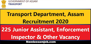 Transport Department Assam, Needassamjob