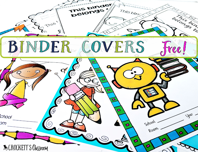 Set of binder covers, both color and bw.
