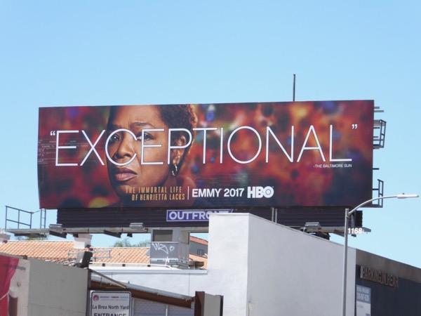 Henrietta Lacks Exceptional Emmy FYC billboard