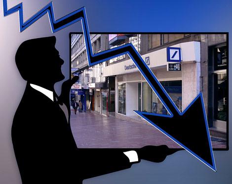 oddział Deutsche Banku - spadke, kryzys