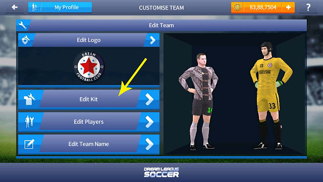 cara import jersey dream league soccer 2017