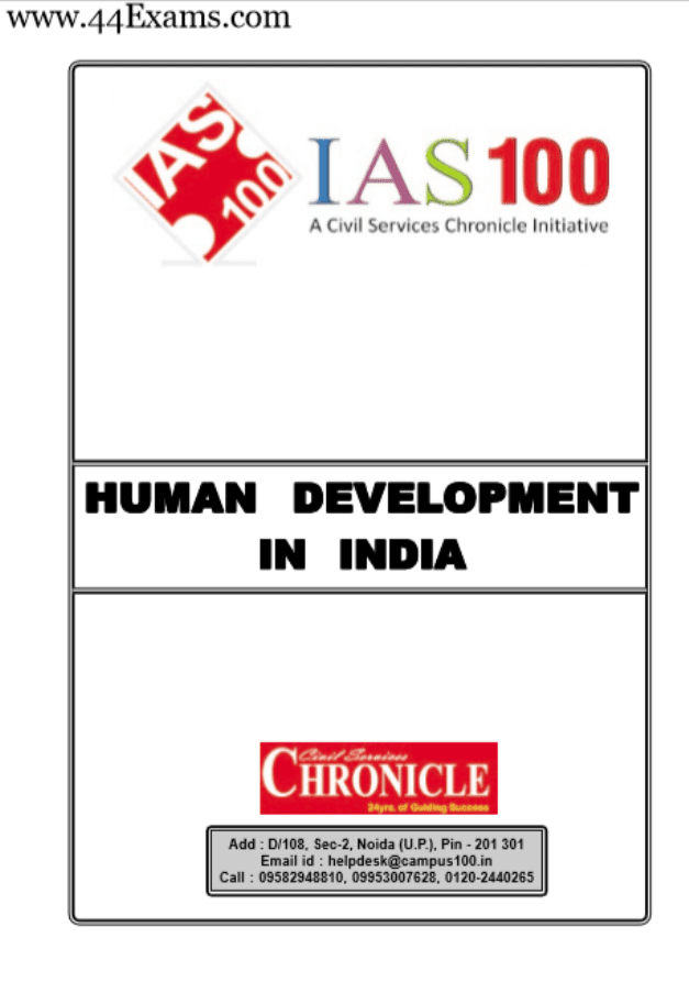 Human-Development-in-India-by-Chronicle-IAS-Academy-PDF-Book