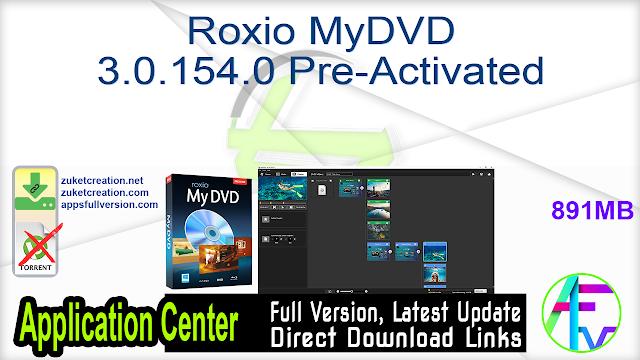 Roxio MyDVD 3.0.154.0 Pre-Activated