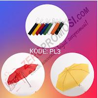 Payung Standart lipat 3 (PL3) Tanpa Lapis Silver