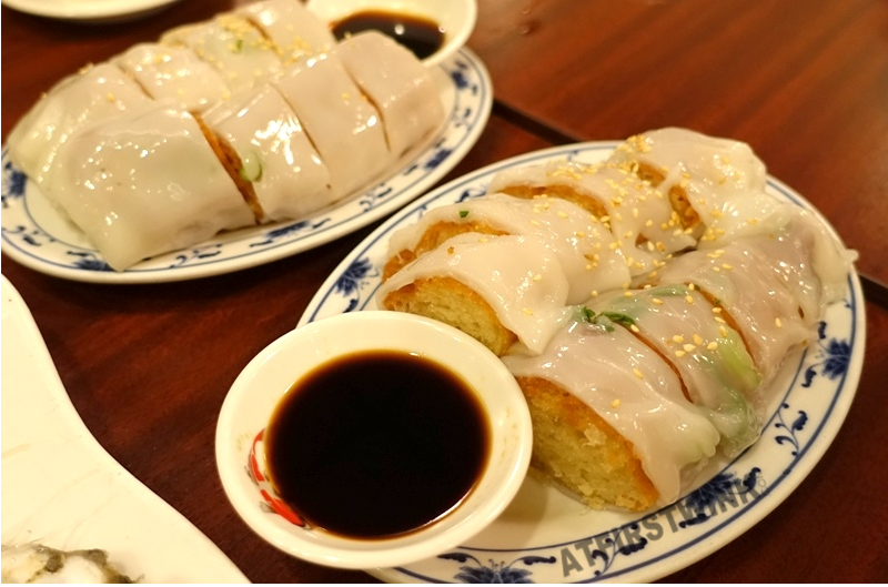 All You Can Eat dim sum hot pot Full Moon The Hague Chinese cruller in rice noodle roll