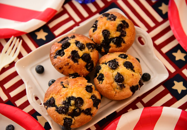 Very Berry July Fourth Muffins