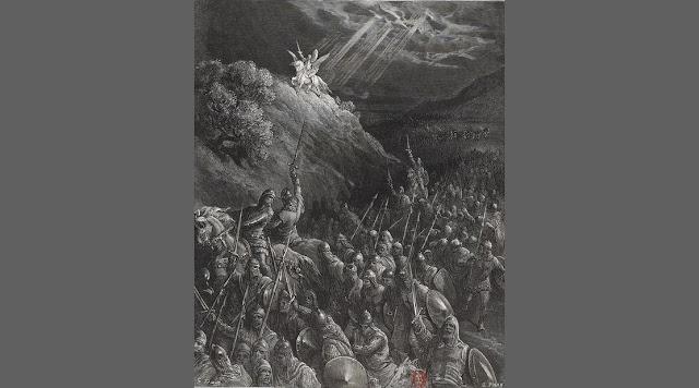 Apparition de Saint Georges sur le mont des oliviers - Gustave Doré