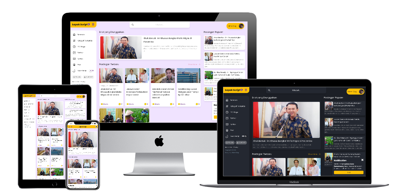 Download Gilatemax Premium Blogger Template