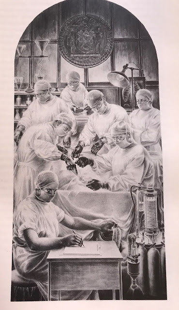 Modern Anesthesia Mural image   Alfred Crimi