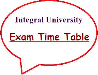 Integral University Exam Date Sheet 2020
