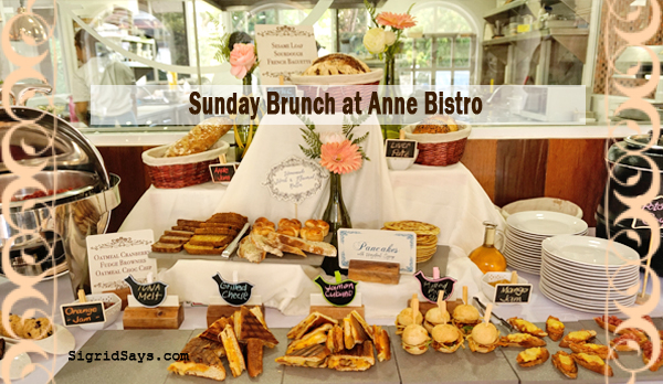Anne Bistro - Sunday brunch - bacolod restaurants - bacolod blogger - Sunday brunch buffet