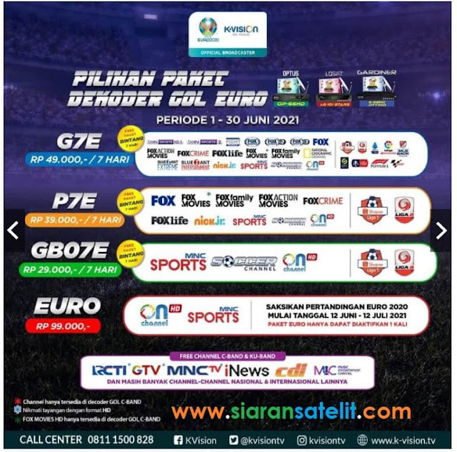 Paket K Vision GOL EURO 2020 dan Paket K Vision 2021