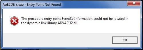 AoE2DE_s.exe - Entry Point Not Found