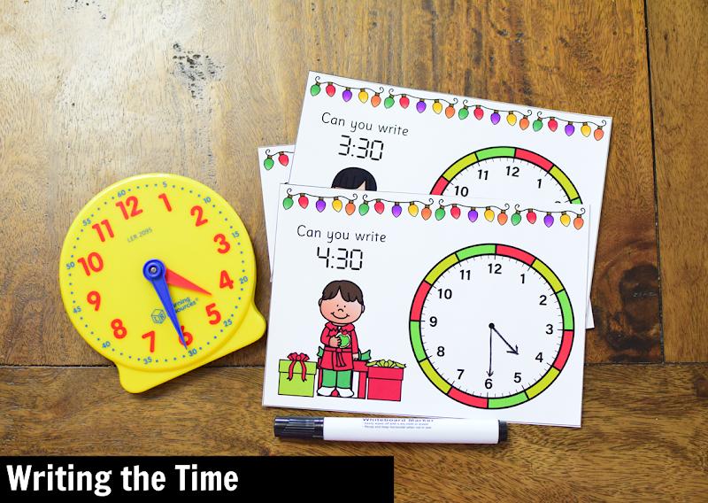 Kindergarten Math Center for December: Writing Time