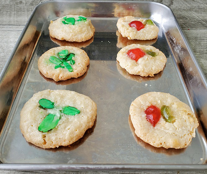 this is almond paste cookies cooling on the cookie sheet