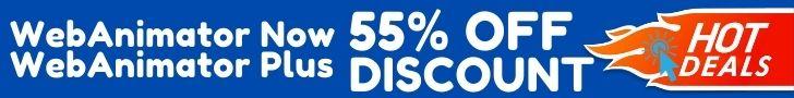 Discount Promo Coupon Codes WebAnimator Now and Plus Rabatt, Gutscheine