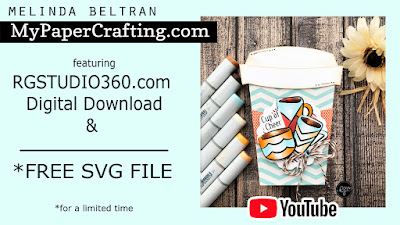 FREE SVG & Video Shaped Coffee Cup Card