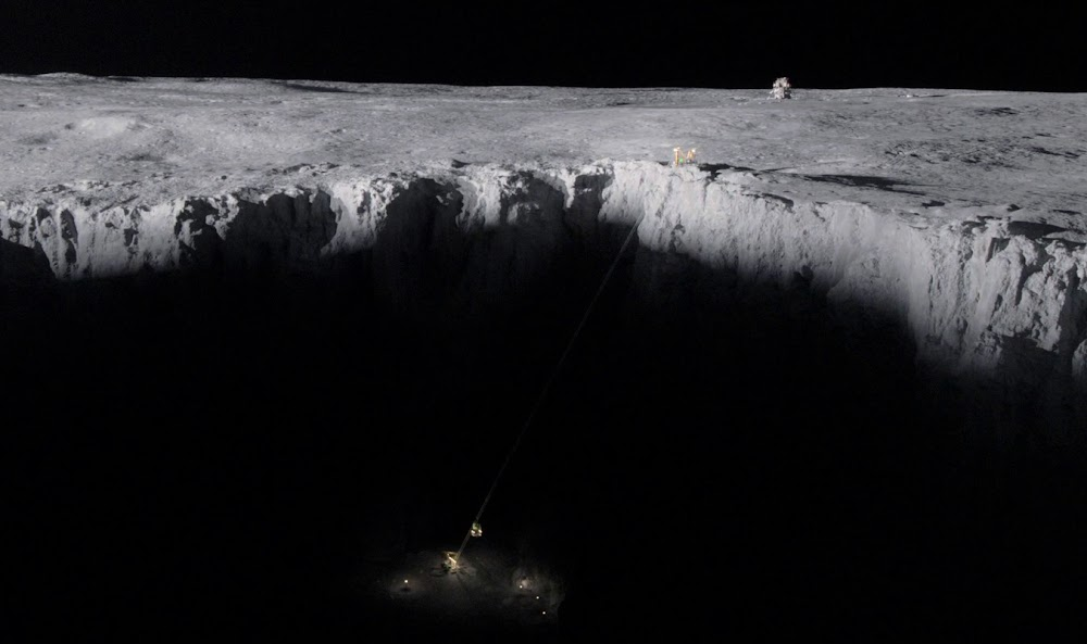 US ice mining site on the Moon in season 1 of 'For All Mankind'