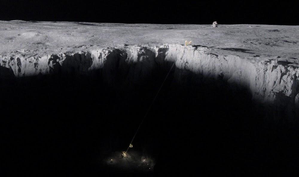 'ऑल ऑल मैनकाइंड' के सीज़न 1 में चंद्रमा पर अमेरिकी बर्फ खनन स्थल