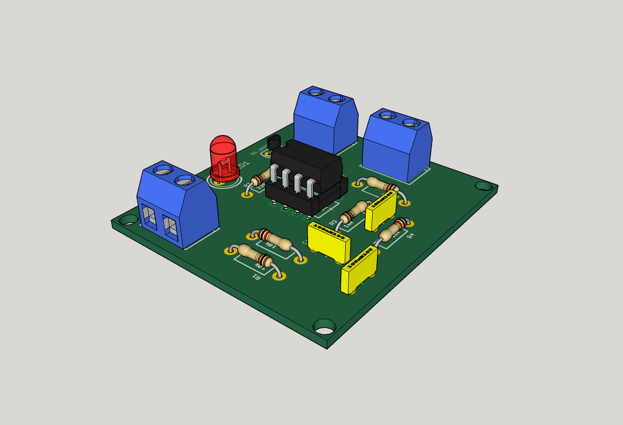 News Page 2 Hackspace Manchester Circuit Audio Preamplifier Integrated Lm358 Dual Op Amp Iso Render Of The Populated Pcb