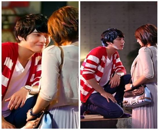 primeiro beijo de Gyu Won e Lee Shin