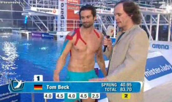 Tom Beck Turmspringen