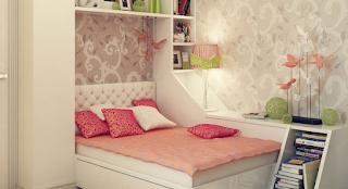 Desain kamar tidur remaja perempuan terbaru