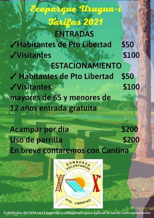 Tarifas Precios Parque Urugua-í