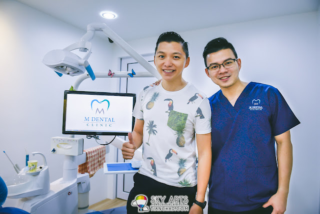 Had laser teeth whitening dental treatment at M Dental Clinic with Dr. Melvin Sia
