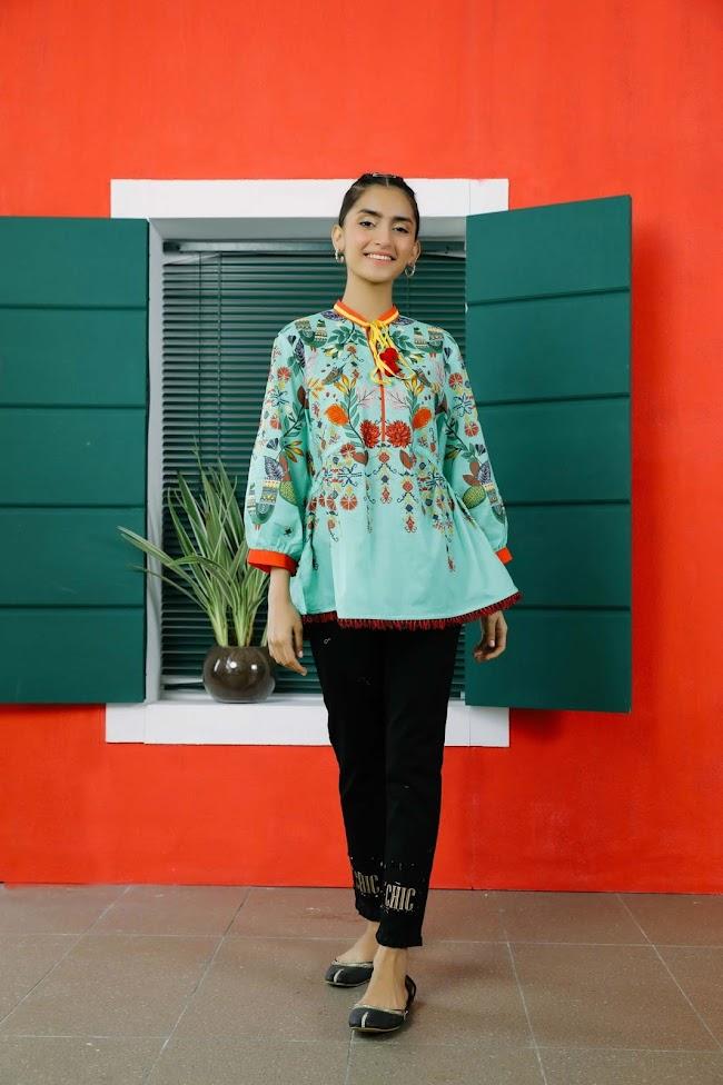 Ethnic Pishta lawn shirt