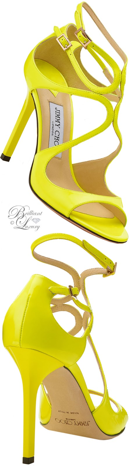 Brilliant Luxury ♦ Jimmy Choo yellow Lang sandals